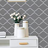 """Grey Pattern Peel and Stick Wallpaper Grey Wallpaper Decorative Contact Paper Self Adhesive Peel and Stick Wallpaper Removable Vinyl Film Mysterious Style Suitable for Wall Covering Roll 118""""x17.7"""""""
