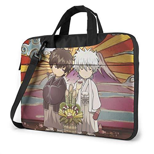 15.6″Lightweight Laptop Notebook Shoulder Backpack Bag Gintama Waterproof PC Briefcase Messenger with Strap