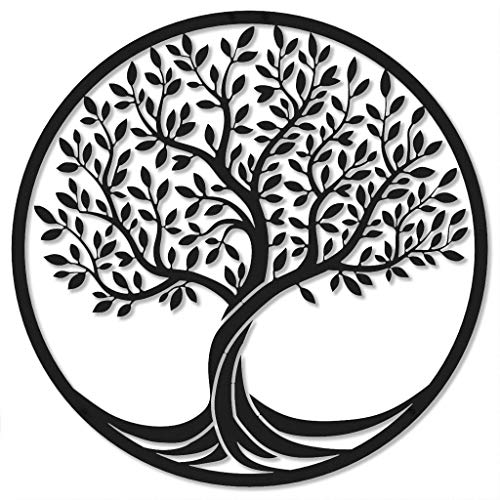 ROAMFORGE Tree of Life - Metal Wall Art Interior Home Decor Idea | Decorative Plaque for Living Room, Kitchen or Outdoors (Medium: 40 x 40cm)