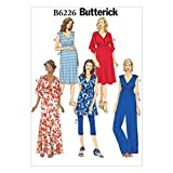 Butterick Ladies Easy Maternity Sewing Pattern 6226 Tunic, Dress, Jumpsuit, Belt...