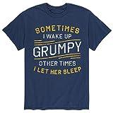 Camiseta gráfica A Veces Despierto gruñón - Camiseta gráfica de Manga Corta para Hombre,6XL