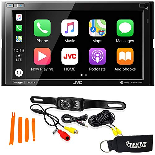 JVC KW-M855BW Compatible with CarPlay, Wireless Android Auto + Back-Up Camera