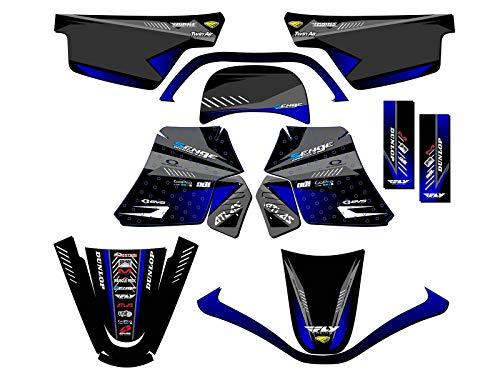 Senge Graphics kit compatible with Yamaha All Years Raptor 125 Surge Grey Graphics Kit