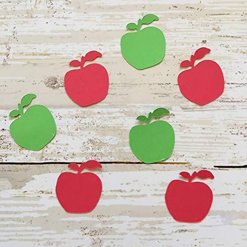 Apple Confetti, Apple Decorations, Fall Party Supplies, Autumn Theme Party, Fruit Theme, Apple Decorations, Apple Cut Out