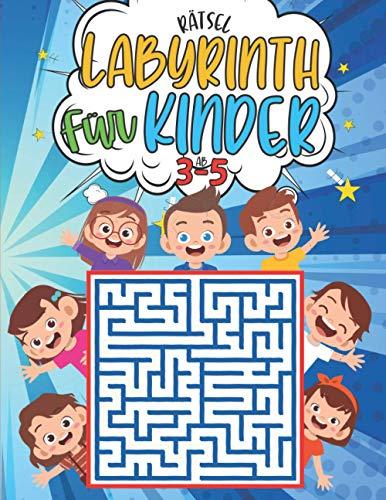 labyrinth rätsel für kinder ab 3-5: 100 Labyrinth 3 ebenen mit Lösungen - Aktivitätsbuch für Kinder - rätselhefte für kinder ab 3-5 jahren - Lustiges ... Kinder - Geschenkidee fur Mädchen und Jungen