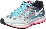 Nike Wmns Air Zoom Pegasus 33, Zapatos para Correr Mujer, Turquesa (Glacier Blue/White/Polarized Blue/Black), 39 EU