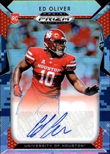 2019 Panini Prizm Draft Picks Prizms Camo Autograph #193 Ed Oliver RC AUTO 17/25 Houston Cougars NCAA Football Trading Card