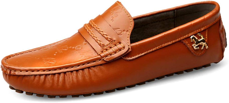 Män's Casual Peas skor, Comfortable Comfortable Comfortable Driving skor Andable Loafers och Slip -Ons for Casual Dress Party och Kvälls &Office, bspringaaa, 37  lägsta hela nätverket