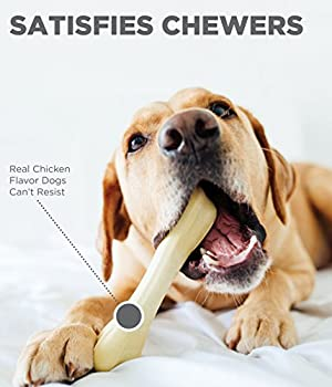 Petstages Jouet à mâcher pour chien Chick-a-Bone - sûr/naturel/sain - os saveur poulet