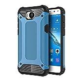 FLHTZS Funda Huawei Nova Young Mya-L11 Carcasa Caja de teléfono móvil, combinación TPU + PC, Hermosa Mano de Obra(Azul)