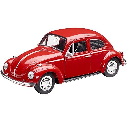 Volkswagen 111087511 Spielzeugauto Käfer mit Rückziehfunktion, Rot