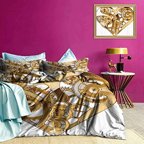 Adorise Bedding Sets Mechanical Love Tech Kids Bedding Sets Workmanship and Stitching are Very Meticulous - King Size