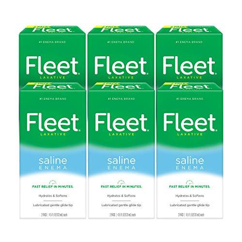 Fleet Laxative Saline Enema for Adult Constipation, 4.5 fl oz, 2 Bottles, 6 Pack