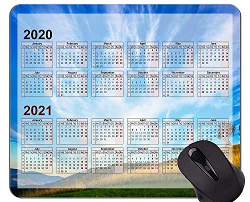 Kundenspezifische ursprüngliche Mausunterlage des Kalender-2020, Prairie Mountain Peak Themed Rubber Mouse Pad