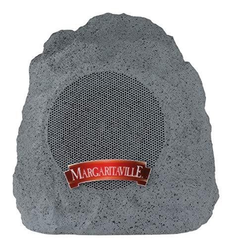 "Margaritaville ""On The Rock"" Outdoor Bluetooth Wireless Speaker | Durable Bluetooth Speakers, Fantastic Yard or Patio Decor, IPX-4 Waterproof Rated, Granite Grey"