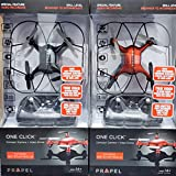 Propel One Click Compact Camera Photo + Video Drone | Push Button 360 Stunt Rolls | On Board Video | 3 Speed Setting | Age 14 and Up (Red)