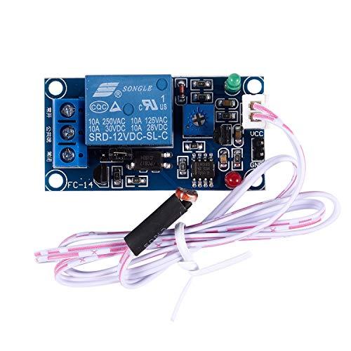 HLPIGF Modulo de rele del Sensor de Interruptor fotoelectrico de 12V de 50mmx25mm con 2 Cables
