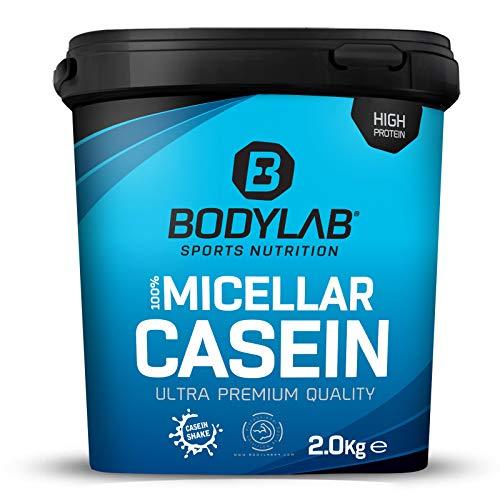 Bodylab24 Casein Micellar Schokolade 2000g, 100% pures Casein, reich an BCAA-Aminosäuren, langes Sättigungsgefühl, unterstützt den Muskelaufbau und -erhalt über Nacht, ideal während einer Eiweiß-Diät