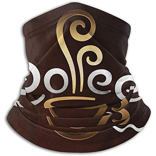Randy-Shop Kaffeetasse Willkommen Nackenwärmer Winddicht Skimaske Staubfrei Ohrenwärmer Stirnband Nackenwärmer