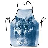 Wolf Cool Funny gran casa actual para cocina barbacoa Cook Chef delantal cocina profesional...