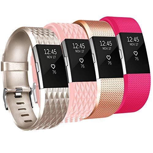 Tobfit Fitbit Charge 2Bandas de Repuesto, Suave Material Classic/Edición Especial Fitbit Charge 2Accesorios muñequeras para Fitbit Charge 2HR, Multi Color, pequeño/Grande