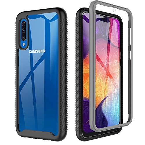 OWKEY Funda Samsung Galaxy A50/A30S /A50S,Carcasa Samsung A50 Antigolpes Transparente,Case Samsung A50 360° Anti Choque+Protector Pantalla Integrado para Samsung Galaxy A30S/A50 /A50S - 6.4'