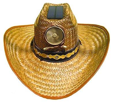 Cooling Sun Straw Solar Men's Palm Leaf Cowboy Hat w. Band Large
