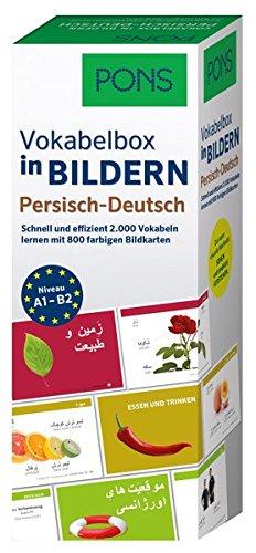 PONS Vokabelbox in Bildern Persisch-Deutsch: Schnell und effizient 2.000 Vokabeln lernen mit 800 farbigen Bildkarten