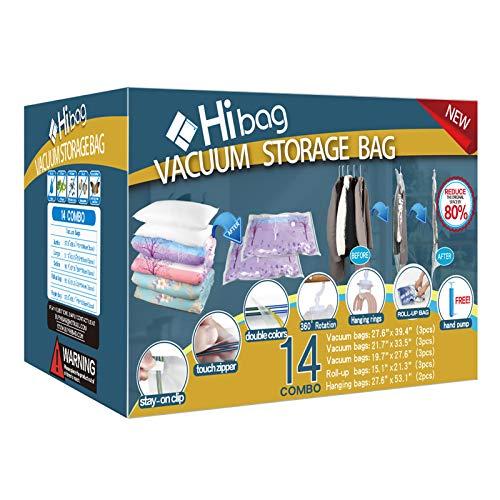 Hibag Bolsas de compresión para ahorrar espacio, almacenamiento al vacío