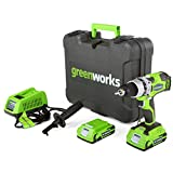 Greenworks G-24 24V Cordless DigiPro 2 Speed Compact Drill, (2) 2Ah Batteries,...