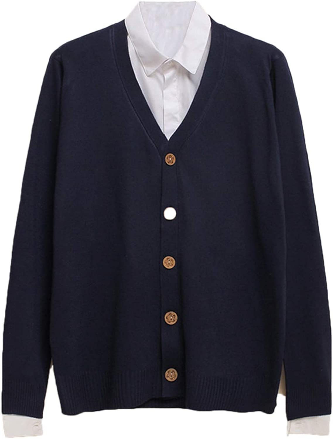 Mens Cardigan Long Sleeve Buttons Knitting Fit Classic Casual Outwear