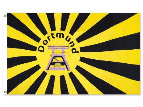 Alsino Dortmund Fahne Meisterfahne Flagge Dortmundfahne Hissfahne Zimmerfahne, wählen:FL-DO08 Dortmund