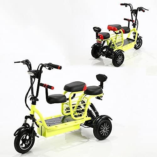 Patinete eléctrico de 3 ruedas, motorizado, 700 W, doble accionamiento, 48 V...