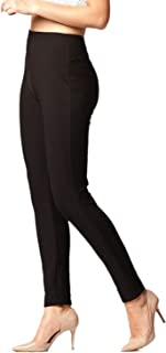 Premium Women's Stretch Ponte Pants - Dressy Leggings - Wear to Work - All Day Comfort