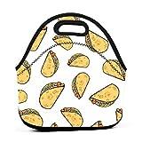 Sweet Potato Tacosneopreno Lonchera reutilizable portátil bolsa de almuerzo bolsa ligera para mujeres niñas y hombres niños bolsa de almuerzo bolsas