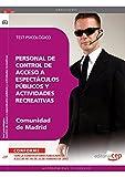 Personal de control de acceso a espectáculos públicos y actividades recreativas de la Comunidad de Madrid. Test psicológico de EDITORIAL CEP (24 feb 2012) Tapa blanda