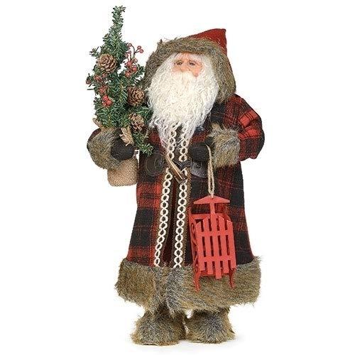 "Roman 18"" Santa W/Snow Sleigh Figure"