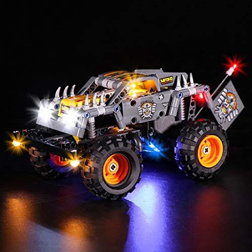 SESAY Juego de iluminación para camión Lego Technic Monster Jam Max-D, juego de iluminación LED compatible con Lego 42119 (sin set Lego).