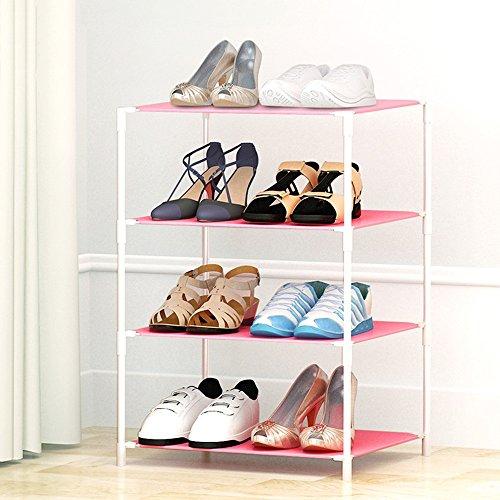 Chaussure Rack Simple de Stockage de Plusieurs étages, Moderne Minimalist résine de ménage Rack de en Plastique, Easy Assembly Shoe Cabinet (Taille : 47 * 37 * 64cm)