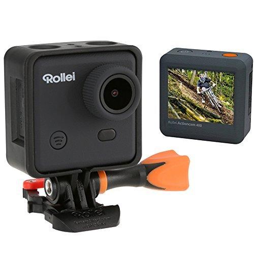 Rollei Actioncam 300 - Videocámara deportiva HD 720p/30 FPS con Safety Pad y carcasa sumergible (hasta 40 m de profundidad),...
