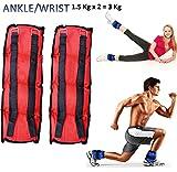 Kemket Tobillo Muñeca Pesos Funcionamiento Ejercicio Ajustable muñeca Fuerza Gimnasio Resistente al Fitness Training Correas de Velcro