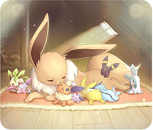 Eevee & Evolutions - Mouse Pad - Standard Size: 10' x 8.5' - .25' Thick