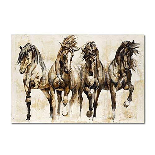 NO LOGO CHENTAOCS Paard Brown Tanz Canvas Animal Wall Art Picture Kunstdruk op canvas van Canapa Fácil de usar