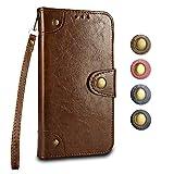 iPhone 6 / iPhone 6s Cover, GORASS Luxury PU Flip Custodia Portafoglio con Slot per Schede e Funzione Staffa, per Apple iPhone 6 / iPhone 6s, Marrone