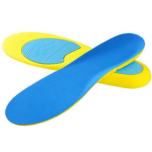 Soumit Solette Sport Antishock L (EU 43-47), Solette Confortevole Traspirante per Correre Jogging, Soletta Antiodore Libero per Alleviare Piedi Dolore e Piede Pressione