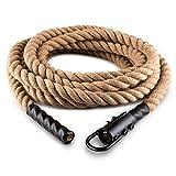 CapitalSports Power Rope Cuerda de Cáñamo para impulsar Gancho 3,8 cm