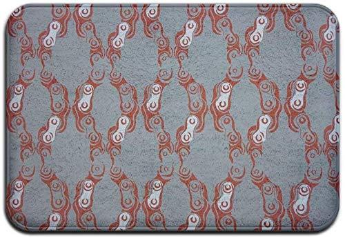 mjmhvfhtgdcgdcx Teppich rutschfeste Flecken verblassen resistente Fußmatte rostige Fahrradkette Outdoor Indoor Mat Room Rug