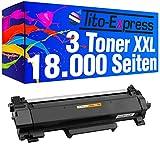 PlatinumSeries 3x Cartucho de tóner con chip Super-XL para Brother TN-2420 HL-L2310D L2375DW L2370DN MFC-L2710DN L2710DW L2712DN L2712DW L2730DW L2732DW L2750DW L2512D L2512D L2550D