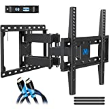 Mounting Dream TV Mount Full Motion for 26-55 Inch Flat Screen TVs, Full Motion TV Wall Mount TV Bracket with Articulating Dual Arms Bear Up to VESA 400x400mm and 99 lbs - Tilt and Swivel