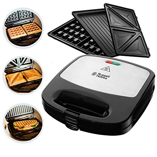 Russell Hobbs Fiesta Sandwich Maker Deep Fill 3 in1, 750 W, Nero